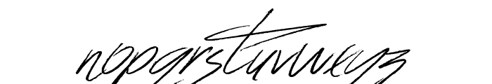 Signatures Font LOWERCASE