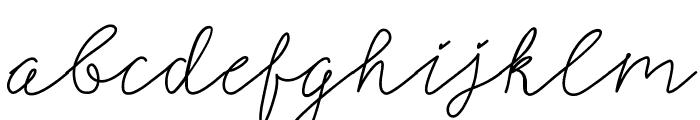 SignerellaScript Font LOWERCASE