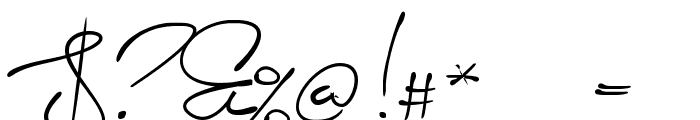 Signerica Medium Font OTHER CHARS