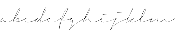 Signerica Thin Font LOWERCASE