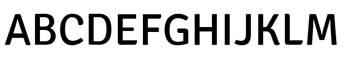 Signika Regular Font UPPERCASE