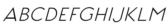 Signoria Italic Font UPPERCASE