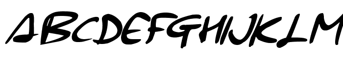 Signup Font UPPERCASE