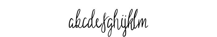 Sild regular Font LOWERCASE