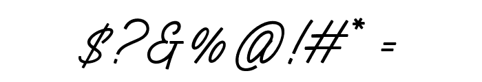 Silent Fighter Font OTHER CHARS