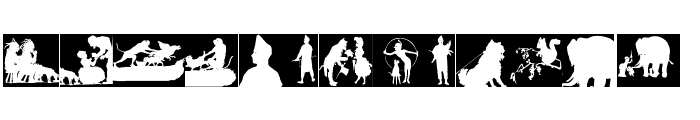SilhouetteSquaresInvers Font UPPERCASE