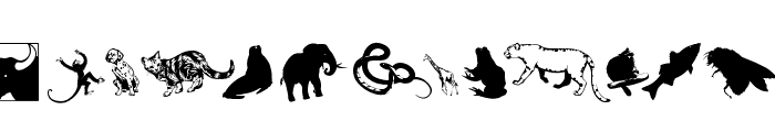 SilhouettesAnimalish Font LOWERCASE