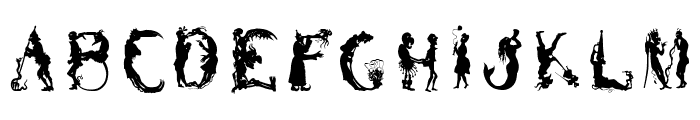 SilhousForJeff Font LOWERCASE
