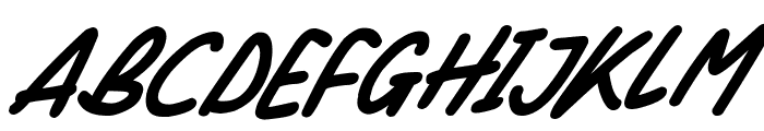 Silky Smooth Italic Font UPPERCASE