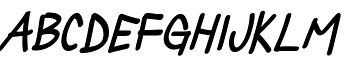 Silly Games Bold Italic Font LOWERCASE