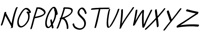 SillyGames-ThinItalic Font LOWERCASE