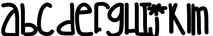Sillybananasinstripedpajamas Font LOWERCASE