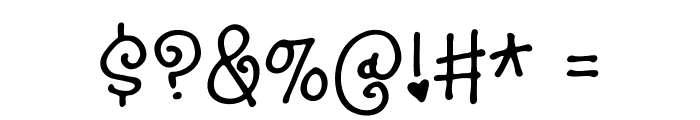 SillyheartDEMO Font OTHER CHARS