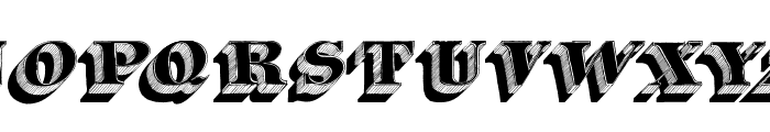 Silvestre Relief Font UPPERCASE