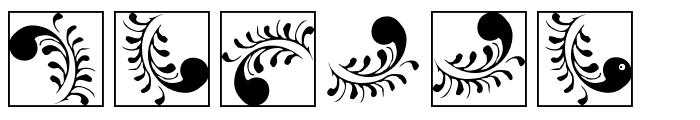 SilvestreInitialsSquares Font OTHER CHARS