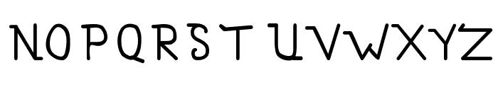 Simallos Font UPPERCASE