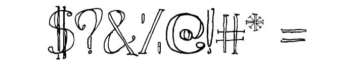 Simon Script Font OTHER CHARS