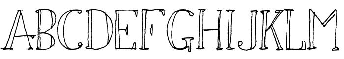 Simon Script Font UPPERCASE