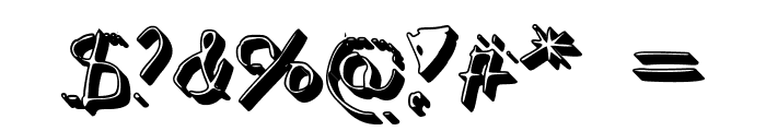 Simonschrift Schaduw Font OTHER CHARS