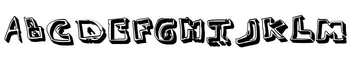 Simonschrift Schaduw Font UPPERCASE