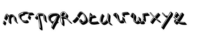 Simonschrift Schaduw Font LOWERCASE