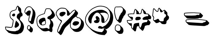 Simonschrift The Big Schaduw Font OTHER CHARS