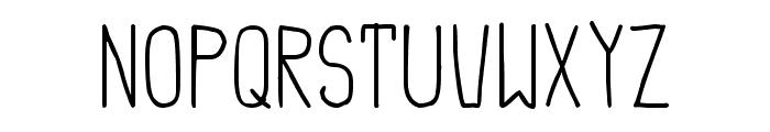 Simple Cream Font UPPERCASE