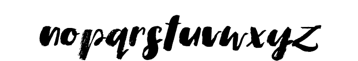 Simple Dry Brush Italic Font LOWERCASE