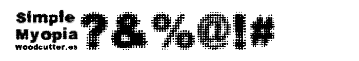 Simple Myopia Font OTHER CHARS