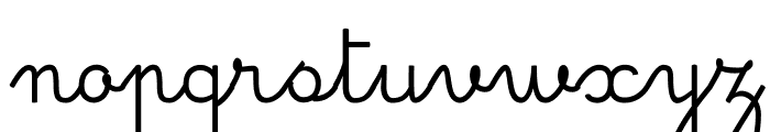 Simple Ronde Regular Font LOWERCASE