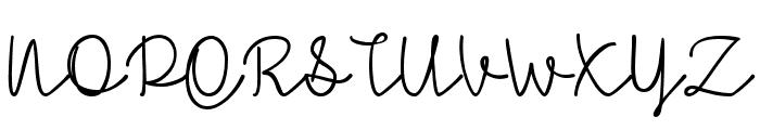 Simple Signature Font UPPERCASE