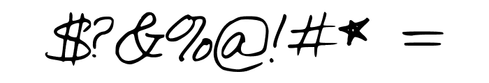 SimpleWriting Font OTHER CHARS