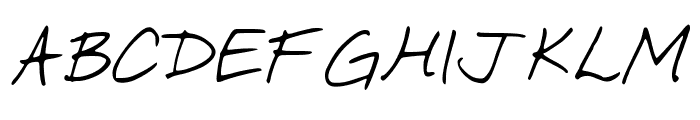 SimpleWriting Font UPPERCASE