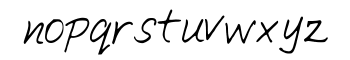 SimpleWriting Font LOWERCASE