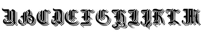 Simplicity No3 Font UPPERCASE
