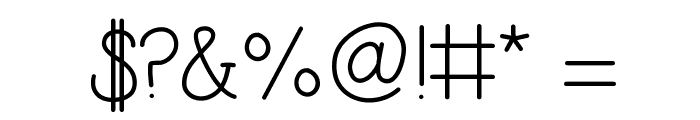 Simplicity Font OTHER CHARS