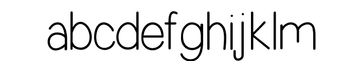 Simplicity Font LOWERCASE