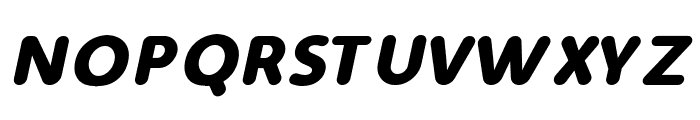 Simply Rounded Bold Italic Font UPPERCASE
