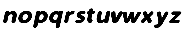 Simply Rounded Bold Italic Font LOWERCASE