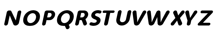 Simply Rounded Italic Font UPPERCASE