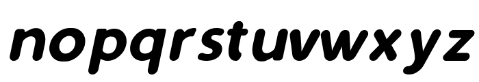 Simply Rounded Italic Font LOWERCASE