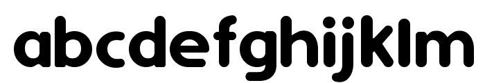 Simply Rounded Font LOWERCASE