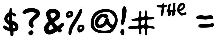 Simpsonfont Font OTHER CHARS