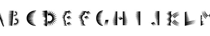 Simula Silver Stripe Font UPPERCASE