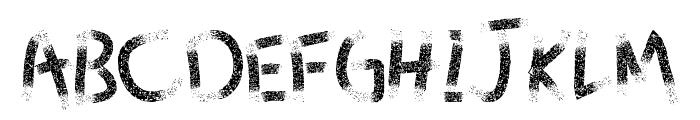 Since dust - LJ-Design Studios Grunge Font UPPERCASE