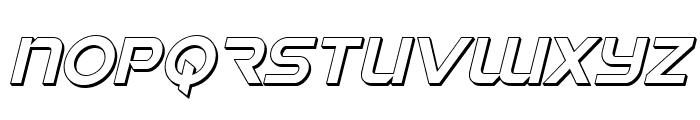 Singapore Sling 3D Italic Font UPPERCASE