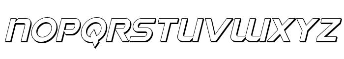 Singapore Sling 3D Italic Font LOWERCASE