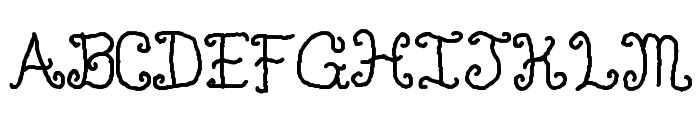 Single Gyrl Font UPPERCASE