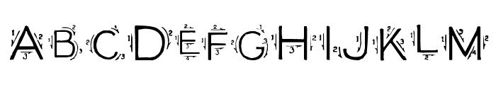 Single Stroke Font UPPERCASE