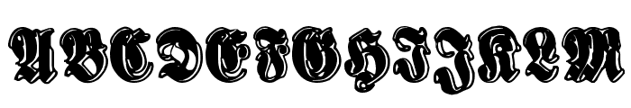 Sinisenharmaa Perkele Font UPPERCASE